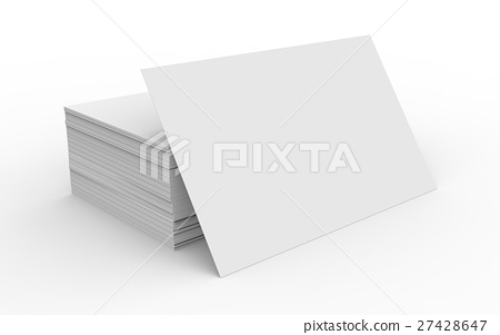 Stack of business card template 27428647