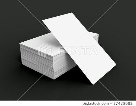 Stack of business card template 27428682