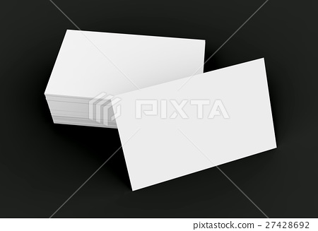 Stack of business card template 27428692