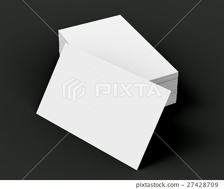 Stack of business card template 27428709