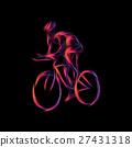 自行车 脚踏车 骑自行车的人 27431318