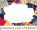 프레임 프레임 수화 무늬 직물 소재 원단 직물 염색 한 자투리 예문들은 방직 27436047