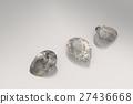 Background with brown gemstones. 3D illustration 27436668