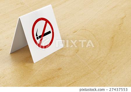 No smoking sign on table 27437553