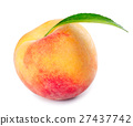 white, ripe, peach 27437742