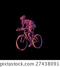 自行车 脚踏车 骑自行车的人 27438091