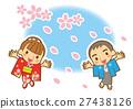 cherry petals falling like snowflakes, heterosexual couple, sex 27438126