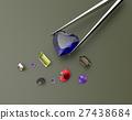 Collection of gemstones. 3D illustration 27438684