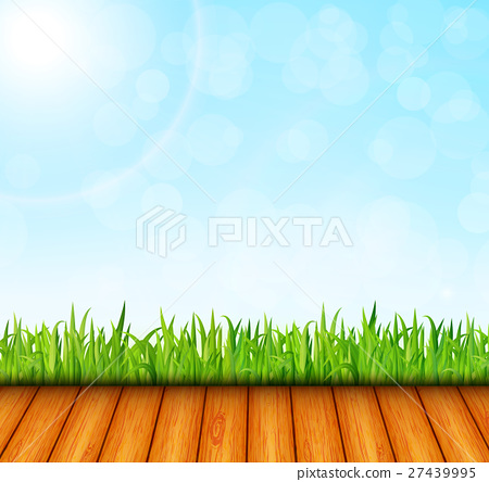 Green garden background vector , Stock Illustration