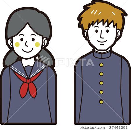 교복 남학생과 세라 의류 여학생 27441091