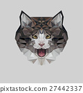 Cat in polygonal style. Triangle vector 27442337