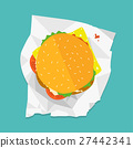 Vector sandwich illustration. Food icon. Hamburger 27442341