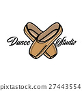 Color vintage dance studio emblem 27443554