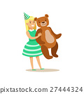 girl teddy giant 27444324