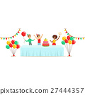 Children With The Decorated Table, Kids Birthday 27444357