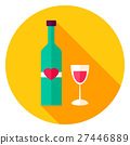 Lovely Wine Circle Icon 27446889