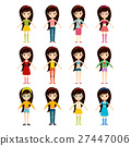 vector, girl, cartoon 27447006