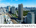 View of the city scenery in the direction of Shiodome from the World Trade Center 27447271