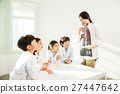 Young Students Learning About DNA With A Female Teacher 27447642