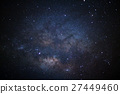 Close-up milky way galaxy with stars and space 27449460