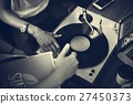 Turntable Vinyl Record DJ Scratch Music Entertainment Concept 27450373