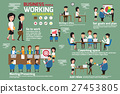 Business people working infographics elements.  27453805