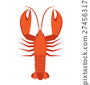 Crawfish icon flat style. Lobster isolated on 27456317