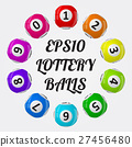 vector illustration of lottery balls. sorted 27456480
