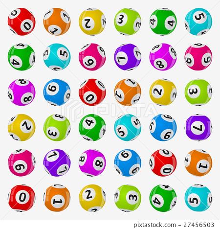 vector illustration of lottery balls. 27456503