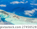 Aerial view of the island with clouds 27456528