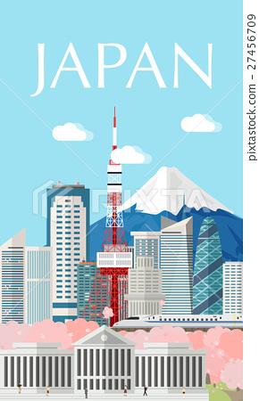 Japan buildings travel place and landmark. 27456709