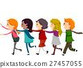 Stickman Kids Human Train 27457055