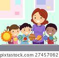 Stickman Kids Student Study Planets 27457062