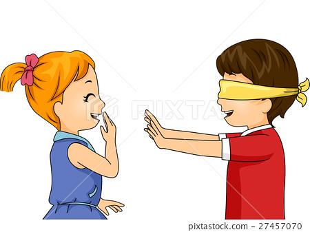 Kids Blindfold Game 27457070