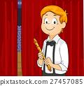 Kid Boy Flute Back Stage 27457085