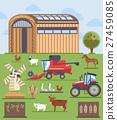 agriculture, vector, farm 27459085