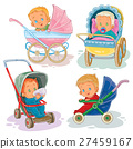 Set illustrations of little kids in a baby 27459167