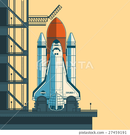 Vector illustration rocket is ready for launch. 27459191