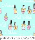 可愛的指甲無縫模式 27459278