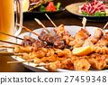 日式烤雞串 烤雞肉 雞肉烤串 27459348