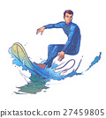 Vector illustration of a surfer 27459805