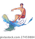 Vector illustration of a surfer 27459884