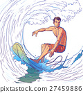 Vector illustration of a surfer 27459886