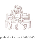 vector, couple, young 27460045