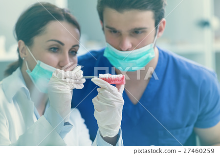 Students with dental prosthesis, dentures 27460259