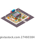 isometric illustration of kindergarten. 27460384