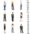 Collection illustrations of business people 27460387