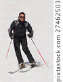 滑雪 斜坡 正面 27462503