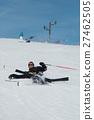 滑雪 墜落 地面 27462505