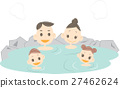 A family attached to a hot spring 27462624